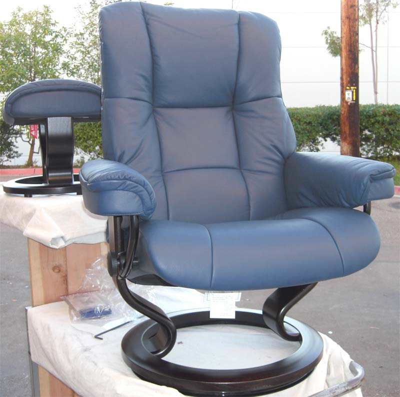 Cool Stressless Paloma Oxford Blue Leather By Ekornes Bralicious Painted Fabric Chair Ideas Braliciousco
