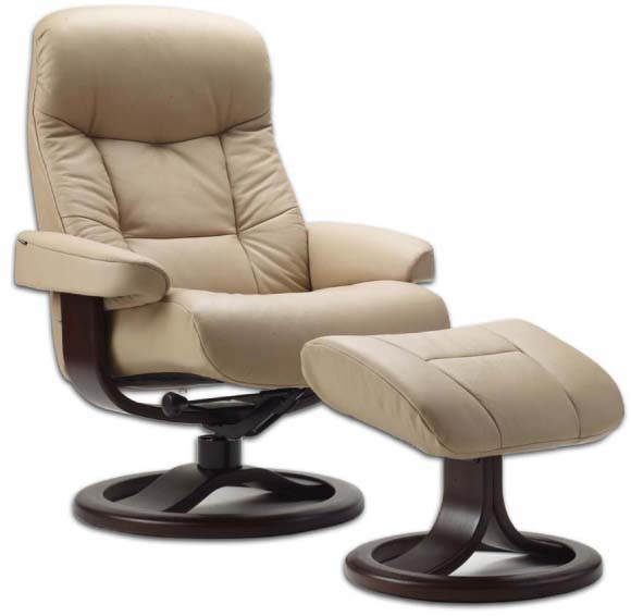 Fjords 215 Muldal Leather Recliner Chair Ottoman Norwegian – Reclining Chairs with Ottomans